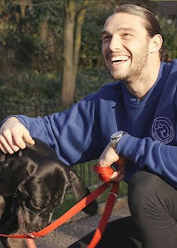 West Ham striker Andy Carroll appeals to owners to tag their pets - it could save their lives if they are lost